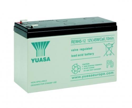 Yuasa REW45-12 8Ah (20h) 12V mit 45Watt / Zelle Bleiakku High Performance AGM Akku 6-9 Jahre