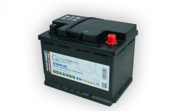 Q-Batteries 12SEM-60 12V 60Ah Semitraktionsbatterie