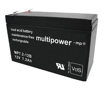 Multipower MP7,2-12B / 12V 7,2Ah Blei Akku mit VdS Zulassung