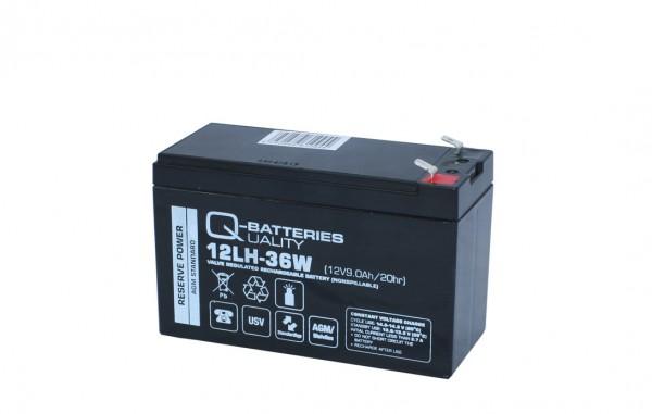 Q-Batteries 12LH-36W 12V 9Ah Blei-Vlies-Akku AGM VRLA Hochstrom USV