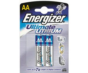 Energizer Ultimate Lithium L91 Mignon AA Batterie (2er Blister) UN3090 - SV188