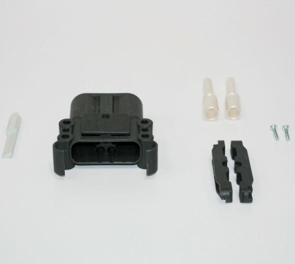 REMA Stecker Euro Din 160A 50mm² (Kodierstift grau, Hauptkontakt, Zugentlastung)