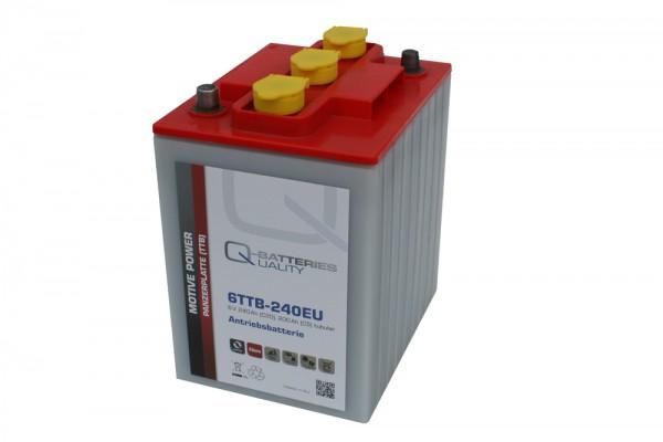 Q-Batteries 6TTB-240EU 6V 240Ah (C20) geschlossene Blockbatterie, positive Röhrchenplatte