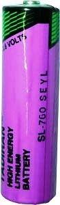 Tadiran SL 760 S ER - AA Lithium Rundzelle 3,6V Lithium-Thionylchlorid UN3090 - SV188