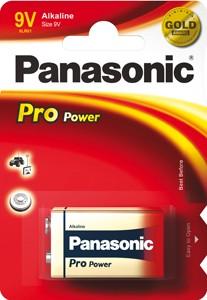 Panasonic Pro Power 6LR61 9V Block Alkaline Batterie (1er Blister)