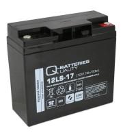 Q-Batteries 12LS-17 12V 17Ah Blei-Vlies-Akku / AGM VRLA mit VdS