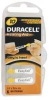 Duracell ActivAir Easy Tab 10 Hörgeräte Batterie 1,4V (6er Blister)