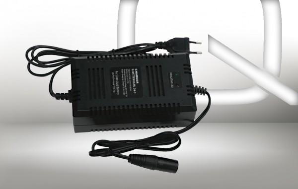 Q-Batteries BL 24-3 Ladegerät XLR-Stecker für Bleiakkus 24V - 3A Ladestrom IU0U Ladekennlinie