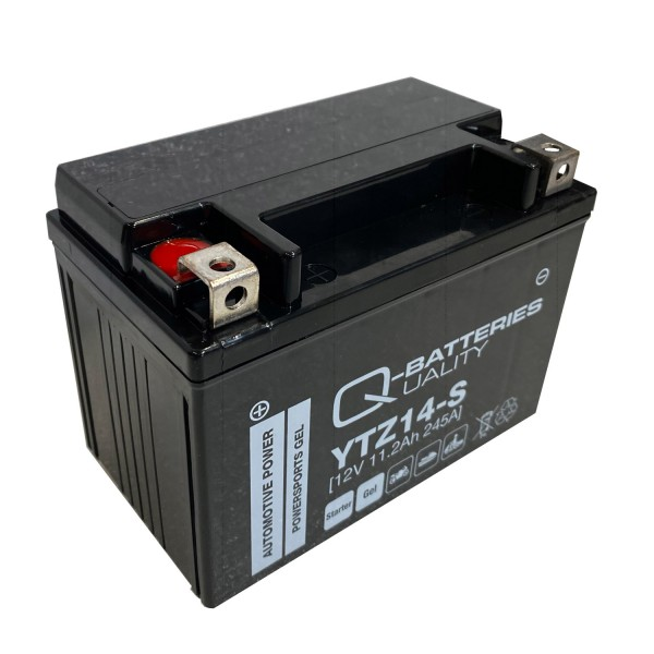 Q-Batteries Motorradbatterie YTZ14-S Gel 12V 11,2Ah 245A