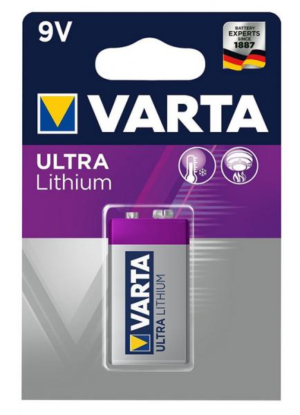 Varta Ultra Lithium 9V Block Batterie (1er Blister)