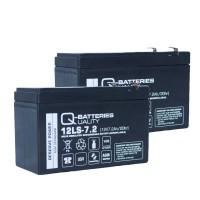 Ersatzakku für Alarmanlage ABB L804S 2 x AGM Batterie 12V 7,2Ah mit VdS