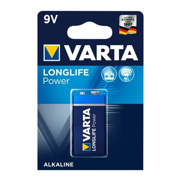 Varta Longlife Power 9V Block Batterie 4922 6LR61 (1er Blister)