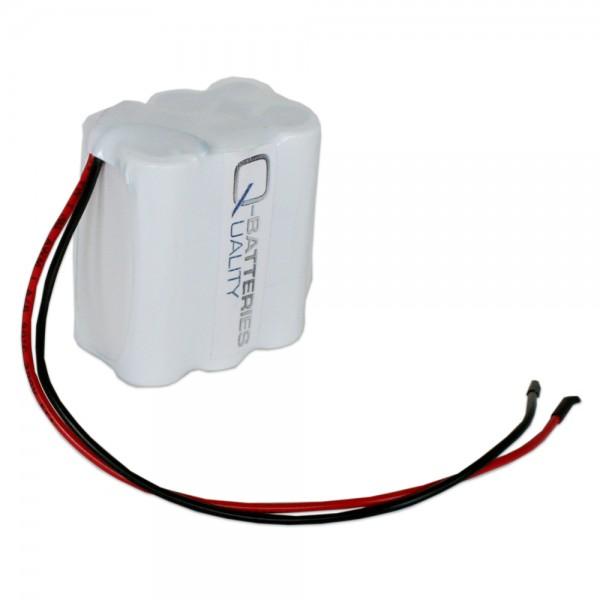 Akku Pack 7,2V 2000mAh Reihe NiMH F3x2 6xAA-Industriezellen Kabel