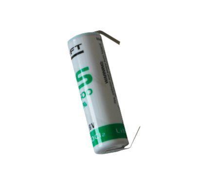 Saft LS 14500-cnr mit Lötband ER-AA Industriezelle Lithium-Thionylchlorid Batterie