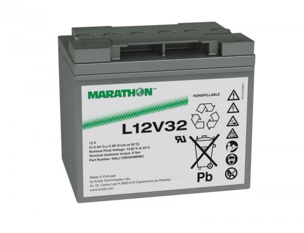 Exide Marathon L12V32 12V 31,5Ah AGM Blei Akku VRLA
