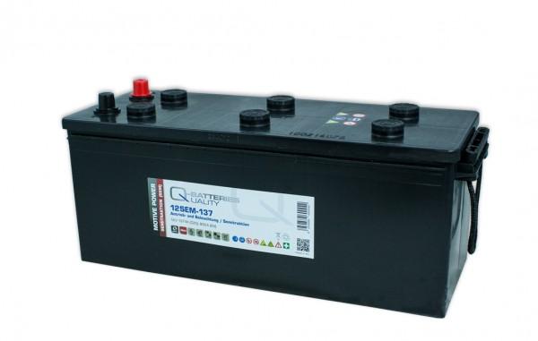 Q-Batteries 12SEM-137 12V 137Ah Semitraktionsbatterie