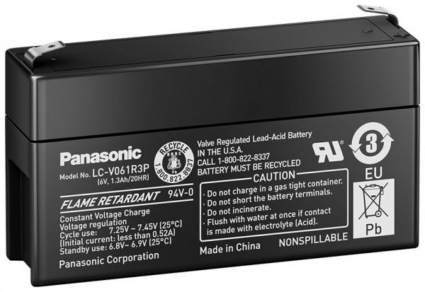 Panasonic LC-R061R3P 6V 1,3Ah Blei-Vlies Akku AGM
