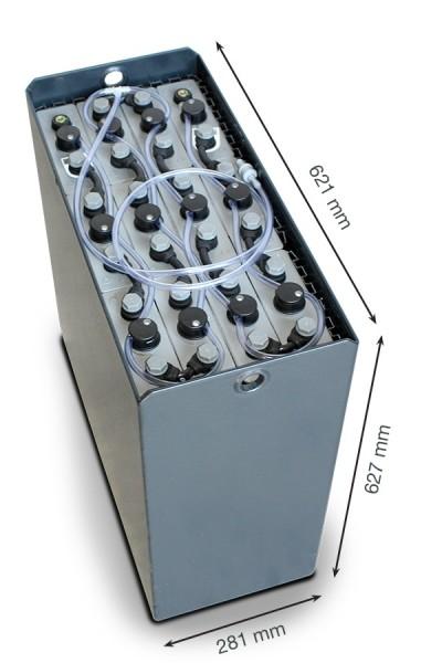 Q-Batteries 24V Gabelstaplerbatterie 3 PzS 375 Ah DIN B (621 x 281 x 627mm L/B/H) Trog 57014023 inkl