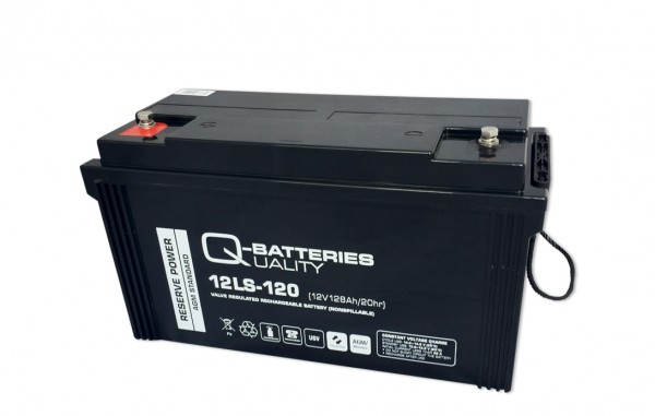 Q-Batteries 12LS-120 / 12V - 128Ah Blei Akku Standard-Typ AGM 10 Jahres Typ
