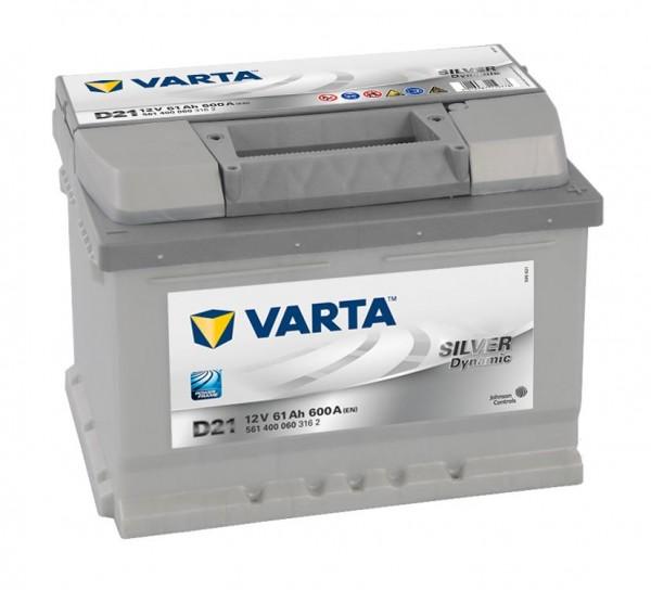 VARTA D21 Silver Dynamic 12V 61Ah 600A Autobatterie 561 400 060