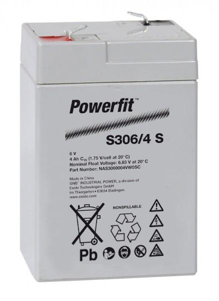 Exide Powerfit S306/4 S 6V 4,5Ah dryfit Blei-Akku AGM