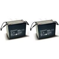 Ersatzakku für Meyra Optimus Light 2 St. Q-Batteries 12LC-75 / 12V - 77Ah Blei Akku Zyklentyp AGM VR