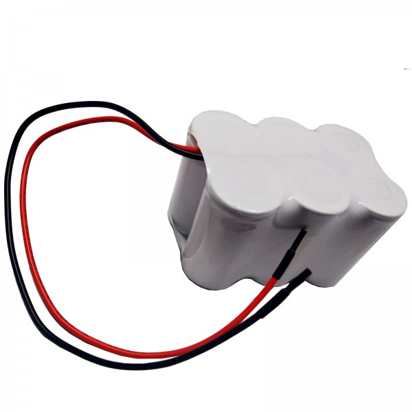 Akku Pack 3,6V 3000mAh Doppelreihe NiCd F3x2 6x SC-1500mAh parallel mit Kabel