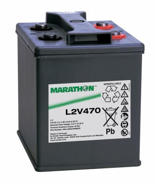 Exide Marathon L2V470 2V 470Ah AGM Blei Akku VRLA