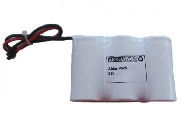 Akku Pack 3,6V 3000mAh Reihe NiMH F3x1 3xSub-C Hochtemperaturzellen / Kabel