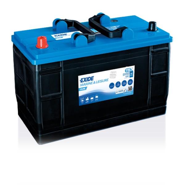 Exide ER550 Dual 12V 115Ah Starterbatterie und Versorgungsbatterie