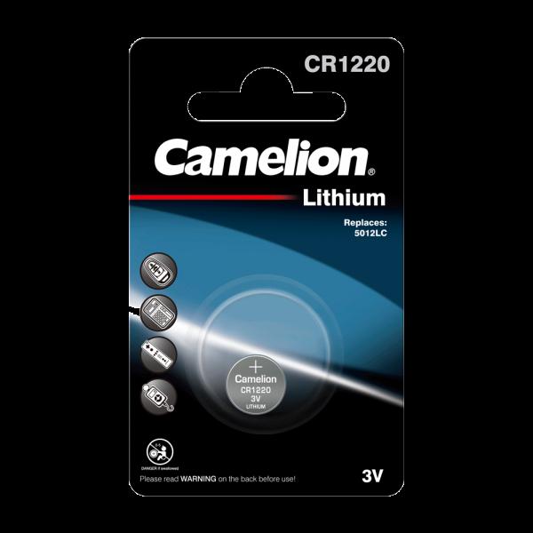 Camelion CR1220 Lithium Knopfzelle (1er Blister) UN3090