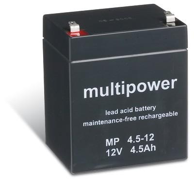 Multipower MP4,5-12 / 12V 4,5Ah Blei Akku AGM