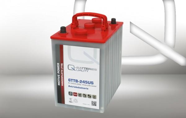 Q-Batteries 6TTB-245US 6V 245Ah (C20) geschlossene Blockbatterie, positive Röhrchenplatte