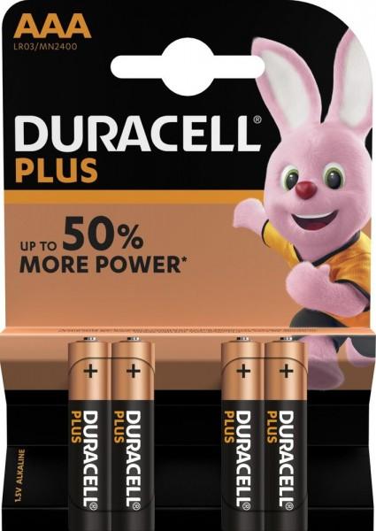 Duracell Plus LR3 Micro AAA Batterie MN 2400 (4er Blister) ehemals Plus Power