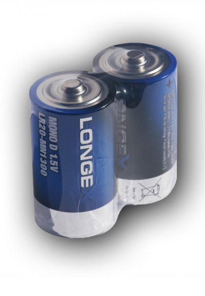 Q-Batteries Mono D LR20 1,5V Alkaline Zellen (2er Folie)