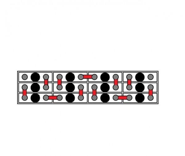 Q-Batteries 24V Gabelstaplerbatterie 2 PzB 130 Ah (650 x 145 x 530mm L/B/H) Trog 40550900