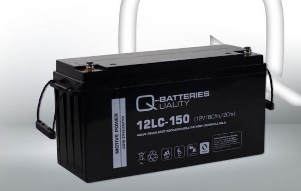 Q-Batteries 12LC-150 / 12V - 160Ah Blei Akku Zyklentyp AGM - Deep Cycle VRLA