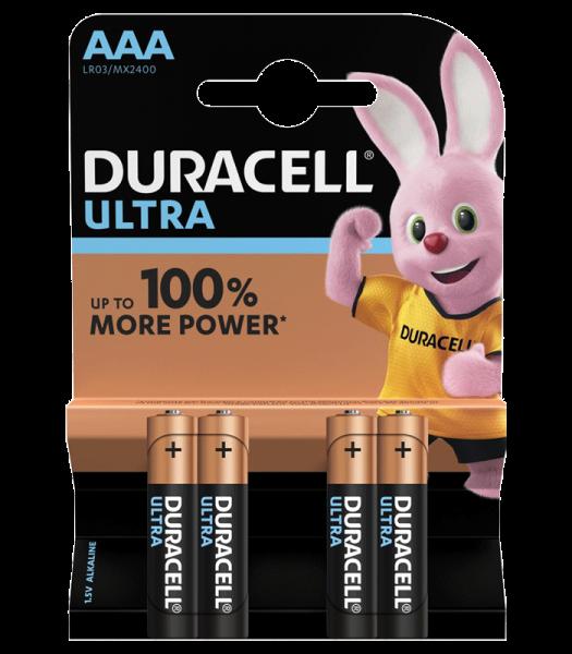 Duracell ULTRA LR3 Micro AAA Batterie MX 2400 (4er Blister) ehemals ULTRA POWER