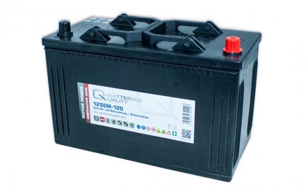 Q-Batteries 12SEM-120 12V 120Ah Semitraktionsbatterie