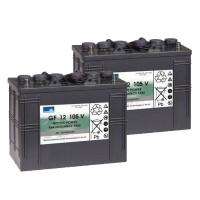 Ersatzakkus für Kärcher Reinigungsmaschinen Gel Batterie 24V 105Ah (2 Stück)