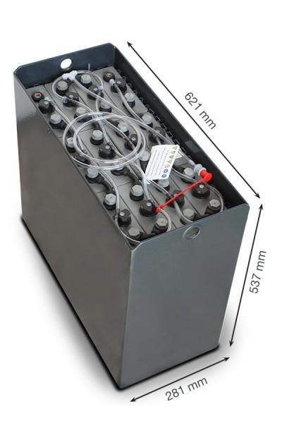 Q-Batteries 24V Gabelstaplerbatterie 3 PzS 270 Ah DIN B (621 x 281 x 537mm L/B/H) Trog 57014122 inkl