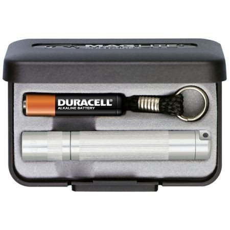 MagLite K3A102 Solitaire silber im Set inkl. 1x Micro AAA Batterie