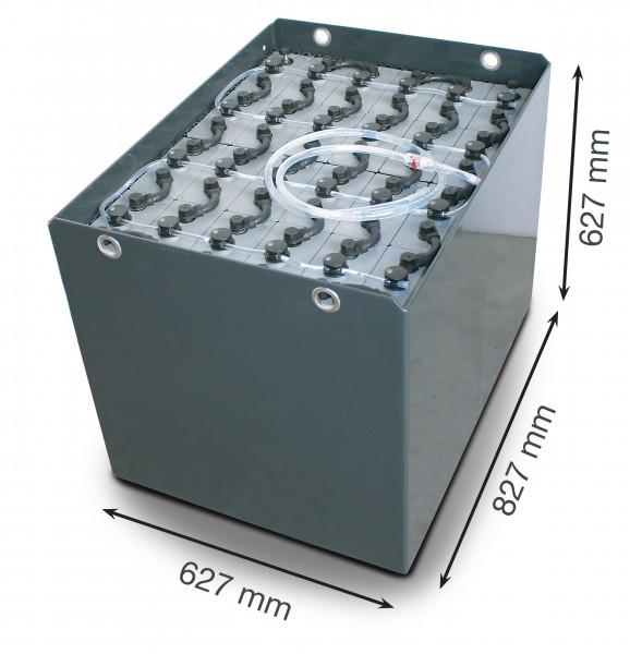 Q-Batteries 48V Gabelstaplerbatterie 5 PzS 575 DIN A (827 x 627 x 627) Trog 57017077 inkl. Aquamatik