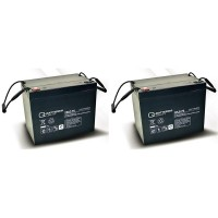 Ersatzakku für Ortopedia Allround 960S 2 St. Q-Batteries 12LC-75/12V-77Ah Blei Akku Zyklentyp AGM VR