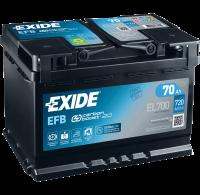 Exide EL700 Start-Stop EFB 12V 70Ah 720A Autobatterie
