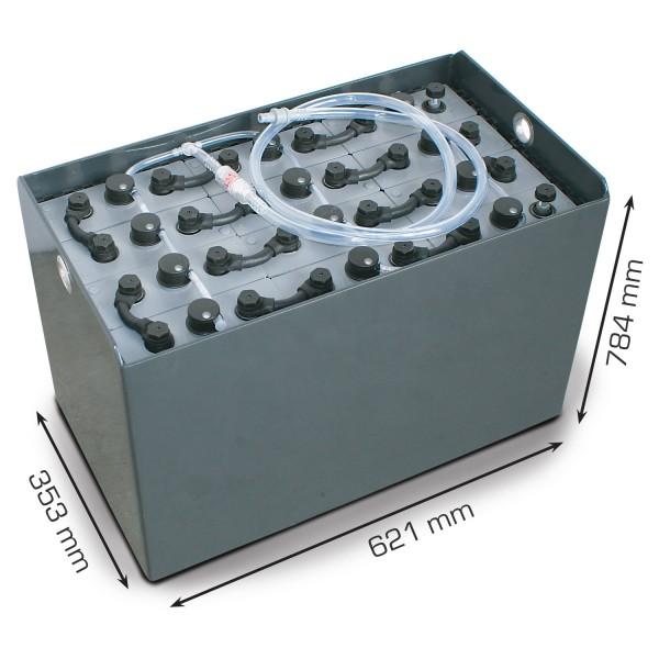 Q-Batteries 24V Gabelstaplerbatterie 4 PzS 620 Ah DIN B (625 x 353 x 784mm L/B/H) Trog 57014178 inkl