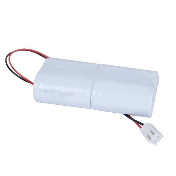 Akku Pack 4,8V 1600mAh NiMH L2x2 4xAA Industrie Flattop + Kabel 20cm + JST VHR-2 Gehäuse 2polig