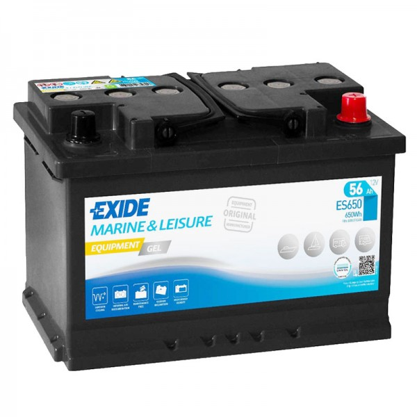 Exide ES650 Equipment Gel 12V 56Ah G60 Versorgungsbatterie