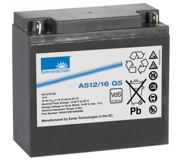Exide Sonnenschein A512/16 G5 VdS 12V 16Ah dryfit Blei-Gel-Akku VRLA