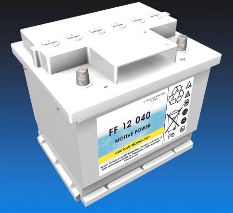 Exide Classic FF 12 040 Antriebsbatterie 12 Volt 40 Ah (5h) drivemobil Traktionsbatterie